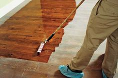 How to Refinish Wood Floors #wood_floors #refinish