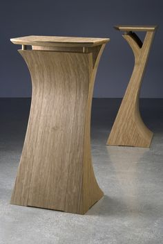 Quarter Sawn White Oak Speaker Stands