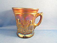 Carnival Imperial Glass Robin Mug