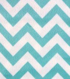 Soft N Comfy Fabric Aqua Sky Chevron