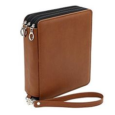 Amazon.com : BTSKY® Deluxe PU Leather Pencil Case For Colored Pencils - 120 Slot Pencil Holder (Brown) : Office Products