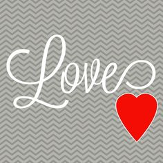 Love Printable Chevron Valentine's Day from Tips from a Typical Mom, featured @printabledecor1