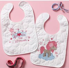 Fairytale Princess Bib Pair - Stamped Cross Stitch Kit