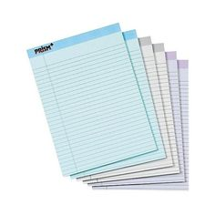 Tops Prism Plus Colored Pads, Legal Size, Letter - Pastel (£15) ❤ liked on Polyvore featuring home, home decor, filler, paper, perforated notebook, blue notebook, wood home decor, grey home decor and wooden home decor