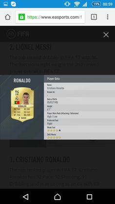 """""""CRISTIANO RONALDO NAMED HIGHEST RATED IN FIFA 17 """" GOODNIGHT  Photos from Google Goodnight Photos, Fifa 17, Coin Store, Right Wing, Lionel Messi, Cristiano Ronaldo, Good Night, Online Business, Cool Things To Buy"""