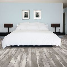 Grey oak wood finish, laminate flooring, easy to install and covered by PERGO& lifetime warranty. Grey Laminate Flooring, Hardwood Floor Colors, Modern Flooring, Wide Plank Flooring, Diy Flooring, Timber Flooring, Wood Planks, Hardwood Floors, Flooring Ideas