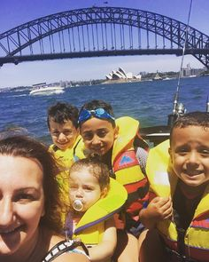 Selfie with the kids in front of our icons #sydneyharbourbridge #operahouse #sydney #harbour #boatlife #mykidsaremylife by hheelleennmm http://ift.tt/1NRMbNv