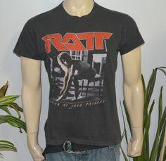 RaRe *1985 RATT* vintage rock concert tour t-shirt (L/XL) 80s Glam Hair Metal #ScreenStars #GraphicTee