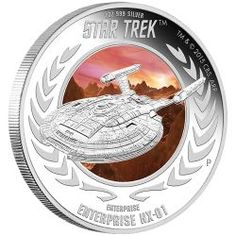 2015 1 oz Tuvalu Star Trek U. Silver Coins For Sale, Gold And Silver Prices, Enterprise Nx 01, Star Trek Enterprise, Silver Value, Mint Coins, Silver Bullion, Commemorative Coins, Proof Coins