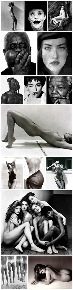 Herb Ritts - his art and commercial work both show a graphic affinity to clean lines and strong forms.