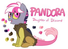 finally made this little goober a reference Pandora Apprentice of Discord Big chaos in a little package Species: Draconequus Age: 9-11, whatever vague age the CMC are in the show Parents: Twilight ...