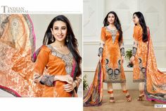 All of this accenting the feminine beauty with this Karishma Kapoor multi colour georgette and satin designer suit. Beautified with print work all synchronized well with the pattern and design of the attire. Comes with matching bottom and dupatta. (Slight variation in color, fabric & work is possible. Model images are only representative.)