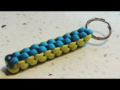 How To Make A Crown Sinnet (Box Knot) Paracord Keychain - YouTube