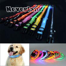 8 colori sml formato glow led dog pet cat  Lampeggiante light up collare di nylon notte di sicurezza collari forniture prodotti freeshipping(China (Mainland))