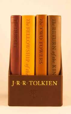 This four-volume, deluxe pocket boxed set contains J.R.R. Tolkien's epic masterworks The Hobbit and the three volumes of The Lord of the Rings ( The Fellowship of the Ring , The Two Towers , and The R