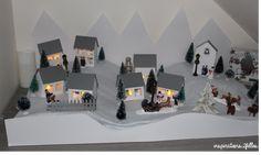 Petit village de noël principalement réalisé en papier !!! Decoration, Photo Wall, Frame, Inspiration, Home Decor, Art, Christmas Is Coming, Advent Calendar, Paper