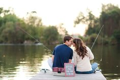 fishing engagement session since it's our favorite thing to do. Fishing Engagement Photos, Engagement Couple, Engagement Shoots, Engagement Photography, Wedding Engagement, Wedding Photography, Engagement Ideas, Fishing Photography, Country Engagement