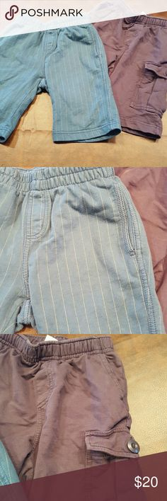 🔶JUST IN🔶Boys Tea Collection Shorts sz 6 EUC Comfortable play shorts from Tea Collection. Sz 6.  One pair is cargo style.  Gray and blue with lighter pinstripe.  Smoke free, pet free home.  EUC. Tea Collection Bottoms Shorts
