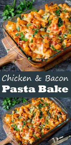 Chicken, bacon and spinach cheesy pasta bake – one for the regular ...