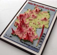 Physical cartographic visualizations built by geographer Wolf-Dieter Rase
