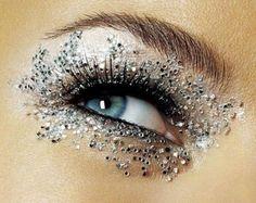 Ice crystal eye makeup