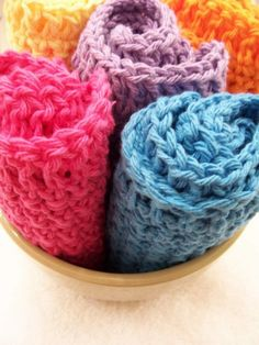 crochet dishrags!  beautiful and wonderful!  I also have some super soft pink crochet washcloths from this shop!  LOVE them!