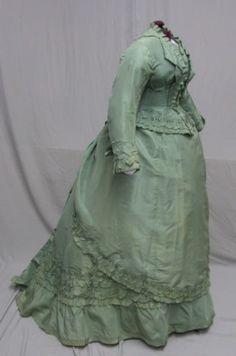 1868 - 1870's 3 pc. Seafoam Green Ensemble