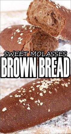 SWEET MOLASSES BROWN BREAD Brownies have always been one of my favourite sweet treats. Today, after quite a few rounds of testing (which was. Molasses Bread, Molasses Recipes, Bread Maker Recipes, Yeast Bread Recipes, Keto Bread, Cheesecake Factory Bread, Brown Bread Recipe, Squaw Bread Recipe, Fudgy Vegan Brownies