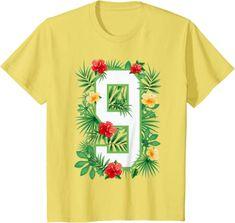 Amazon.com: Floral Number 9 Flower Nine Gardener Summer Flowers T-Shirt: Clothing