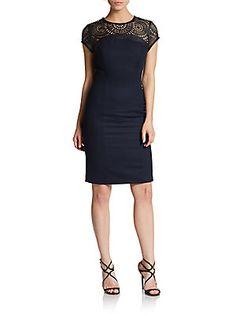 Lace Yoke Knit Dress