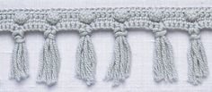 Crochet Trim: Popcorn Fringe : freebie: thanks so xox