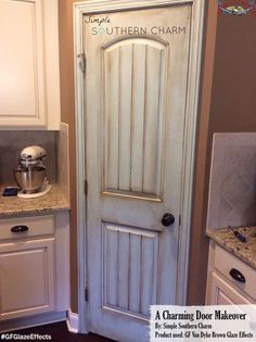 Simple Southern Charm, https://www.facebook.com/SimpleSouthernCharm?fref=ts, used General Finishes Van Dyke Brown Glaze Effects to give this pantry door a cool distressed look. Looking for place to buy GF products? You can find our paints, glazes, water based and oil based stains and topcoats (including the One Can Wonder, Java Gel) at Woodcraft and Rockler Woodworking stores or use your zip code to find a retailer near you at http://generalfinishes.com/where-buy#.UvASj1M3mIY. Limited…