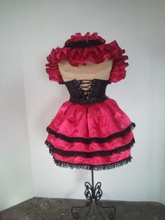 Sanguine Red and Black Bustle Only by DelightfullyDeviant on Etsy, $35.00