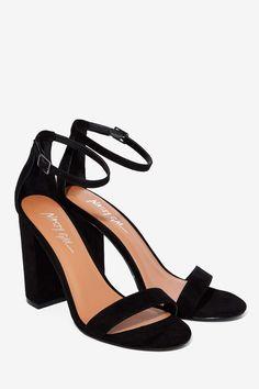 Nasty Gal Take the Strap Vegan Suede Heel - Black | Shop Shoes at Nasty Gal!