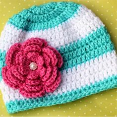 Crochet For Children: Striped Toddler Beanie