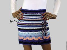Купить Вязаная юбка - комбинированный, юбка, юбка вязаная, юбка крючком, цветная юбка