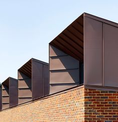 Ravens Way housing by Bell Phillips Architects - bank view cladding Dormer Roof, Dormer Windows, Zinc Cladding, Exterior Cladding, Zinc Roof, Metal Roof, Brick Architecture, Architecture Details, Landscape Architecture