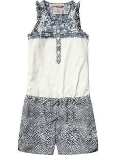 Short Sleeve Printed Silk Feel Jumpsuit 94402