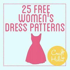 DIY Clothing & Tutorials: Free Ladies Dress Patterns...  https://diypick.com/fashion/diy-clothes/diy-clothing-tutorials-free-ladies-dress-patterns/