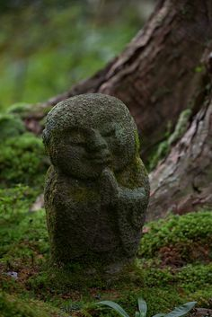 Little Jizo statue at Ohara Sanzenin Temple in Kyoto, Japan ----------- #japan #japanese