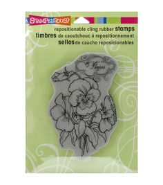 Stampendous Pansy Spray Cling Rubber Stamp