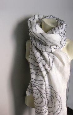 Cob web scarf, so beautiful.