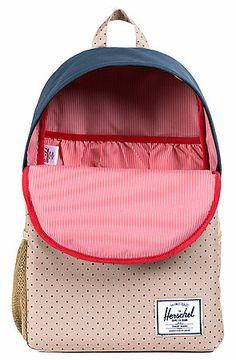 The Jasper Backpack in Polka Dot & Navy