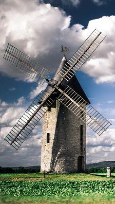 Holland where Windmills live.