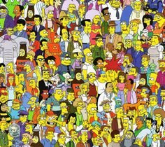 Simpsons.. does it ever get old i dont think so #simpsons #timewellspent - try to find the Simpson family members, I found everyone except Maggie - Homer's butt is in the middle of the picture! Lol! -Dani A.