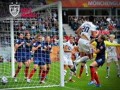 Abby Wambach heads in game-winning goal in the 79th Minute