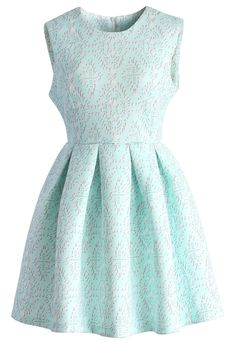 Baby Blue Airy Baroque Skater Dress - New Arrivals - Retro, Indie and Unique Fashion