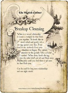 Grimoire, Book of Shadows, Free Spells, Real Witch Spells, Breakup Spell, Cleansing Spell