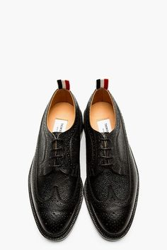 Thom Browne Black Leather Longwing Brogues. @thombroweny #thegmi #thegentlemansinc