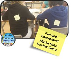 """""""What Am I?"""" Review Game With Sticky Notes 6th Grade Social Studies, 6th Grade Science, Middle School Reading, Middle School Science, Teachers Aide, New Teachers, High School Biology, Magic School Bus, School Tool"""